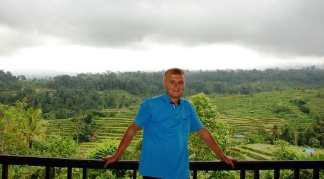 Endonezya da Çeltik Terasları