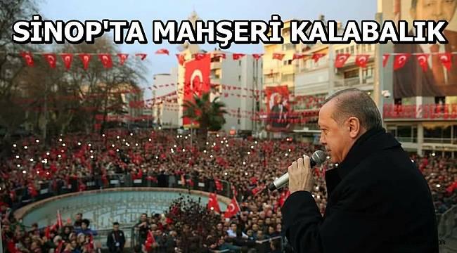 SİNOP'TA MAHŞERİ KALABALIK