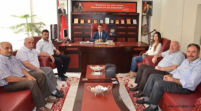 Ahmet DEMİR'den Başkan Kılıçaslan'a  Plaket.