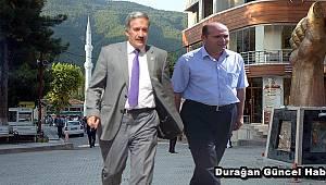 Ak parti  adayları  Mahmut YURTSEVEN ve Yılmaz ŞAHİN