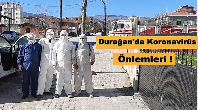 Durağan'da Koronavirüs Önlemleri !