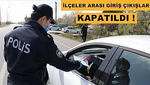 Sinop'ta İlçeler Arası Giriş Çıkışlar Kapatıldı