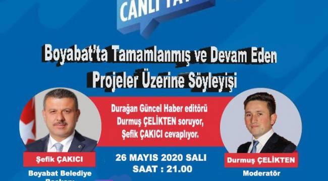 Boyabat Belediye Başkanı Şefik Çakıcı İle Canlı Yayın Detaylar..