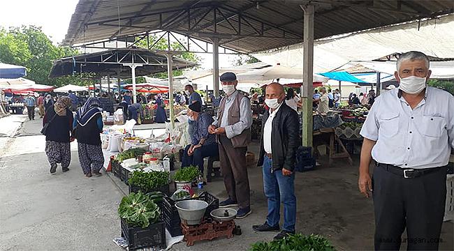 Durağan'da Halk Pazarı Açıldı Geniş Önlemler Detaylar..