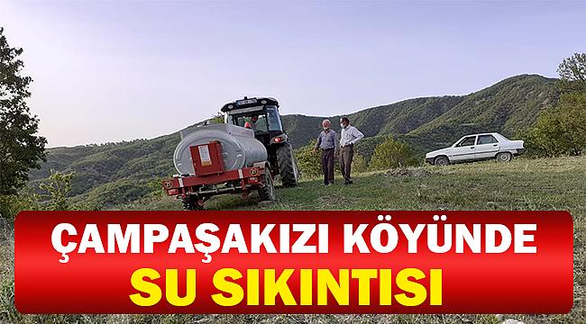 Tankerlerle  Köye Su Çekiyorlar