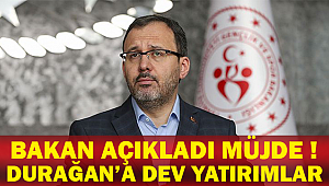 Bakan Açıkladı Müjde Durağan'a Dev Yatırımlar !