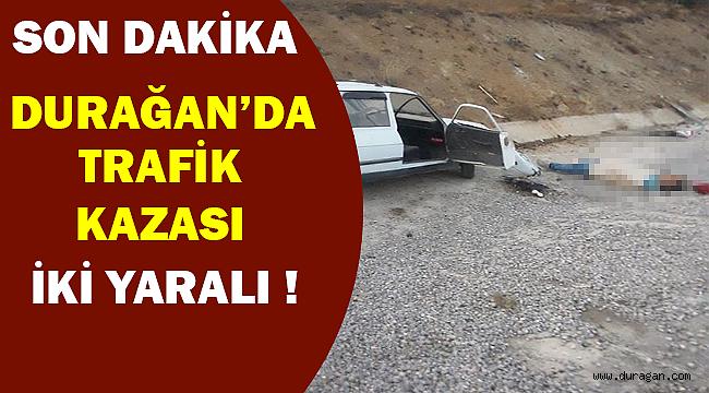 Durağan'da Trafik Kazası 2 Yaralı Son Dakika !